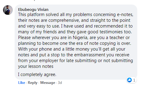 testimonial of EduPodia - Nigerian #1 Smart e-Learning Platform For Teachers And Students.