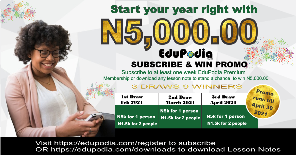 EduPodia.com Subscribe and Win N5000 Giveaway Promo