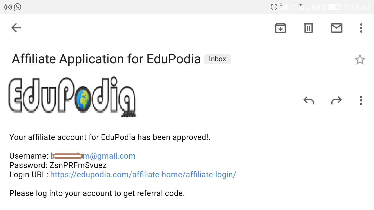 EduPodia Affiliate program - secondary school lesson notes platform