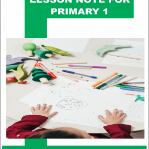 lesson note for primary 1